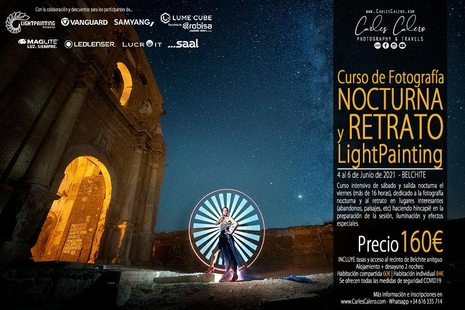 Curso de Fotografía Nocturna y Retrato Light Painting 2021