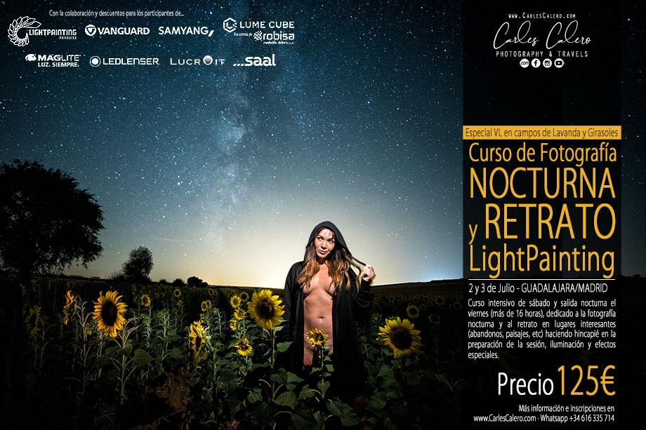 Curso de Fotografía Nocturna y Retrato Light Painting - Guadalajara/Madrid 2021