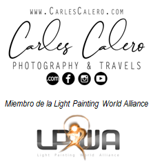 Firma Carles Calero - Photography & Travels, miembro de la LPWA (Light Painting Worl Alliance)