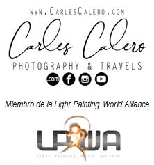 Firma Carles Calero - Photography & Travels, miembro de la LPWA (Light Painting Worl Alliance)
