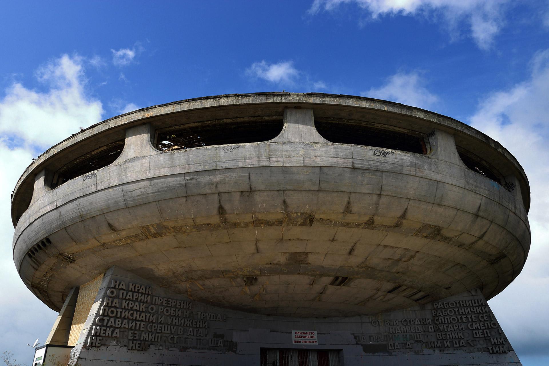 Sede del Partido Comunista en estado de abandono
