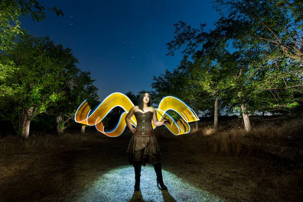 Asian Angel - LightPainting en iNight