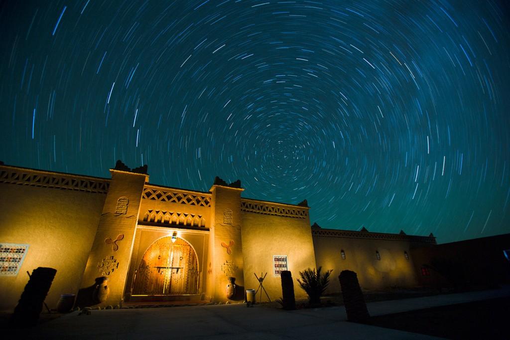 Kasbah fotografía nocturna Startrails