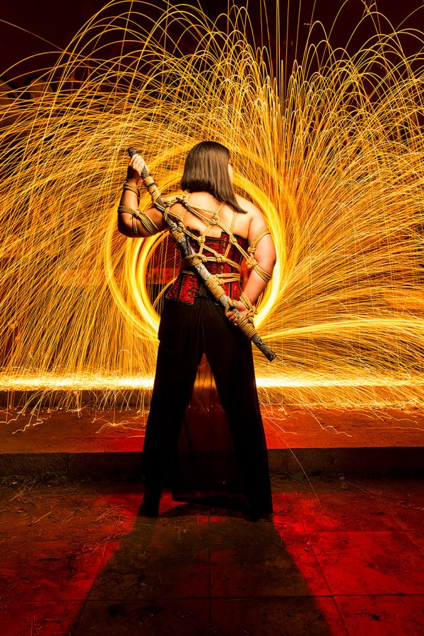 Katana de fuego - LightPainting