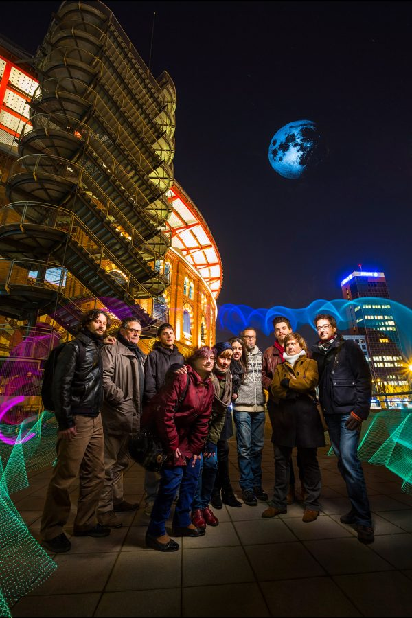 Grupo de asistentes a la Masterclass Light Painting