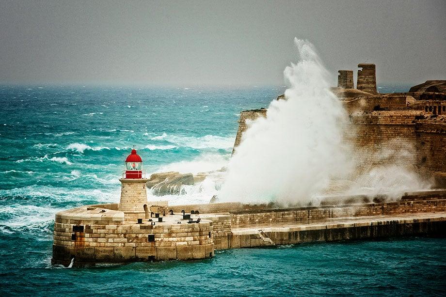 Maravillosos faros marítimos en Malta