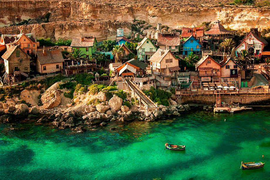 El poblado cinematográfico de Popeye el Marino en Malta