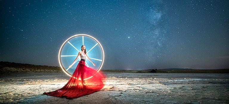 Fotografía Nocturna y LightPainting ACADEMY – Retrato con Vía Láctea